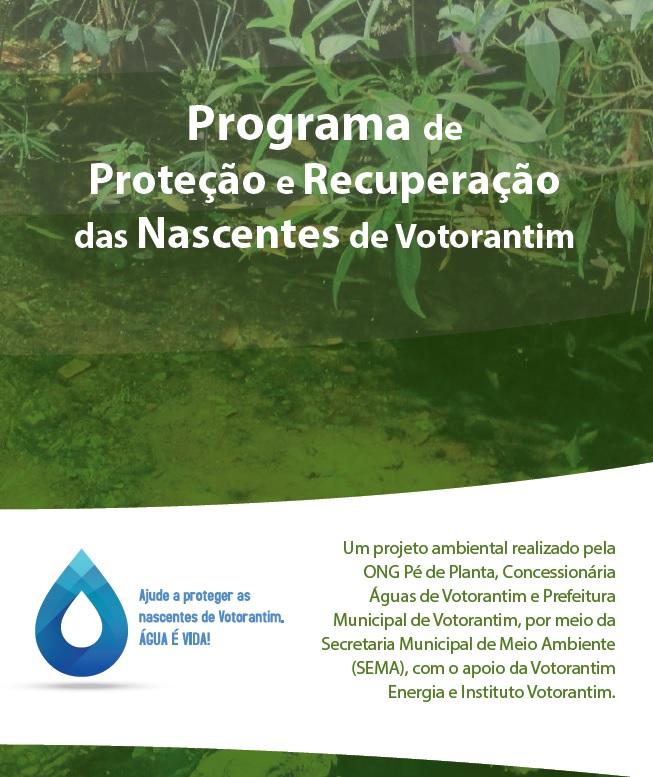 Programa de Proteção e recuperação das  nascentes de Votorantim