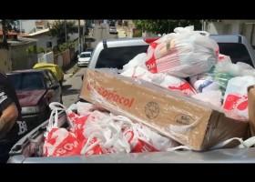 Ações de entrega de cestas Básicas nas comunidades de Balneário Camboriú