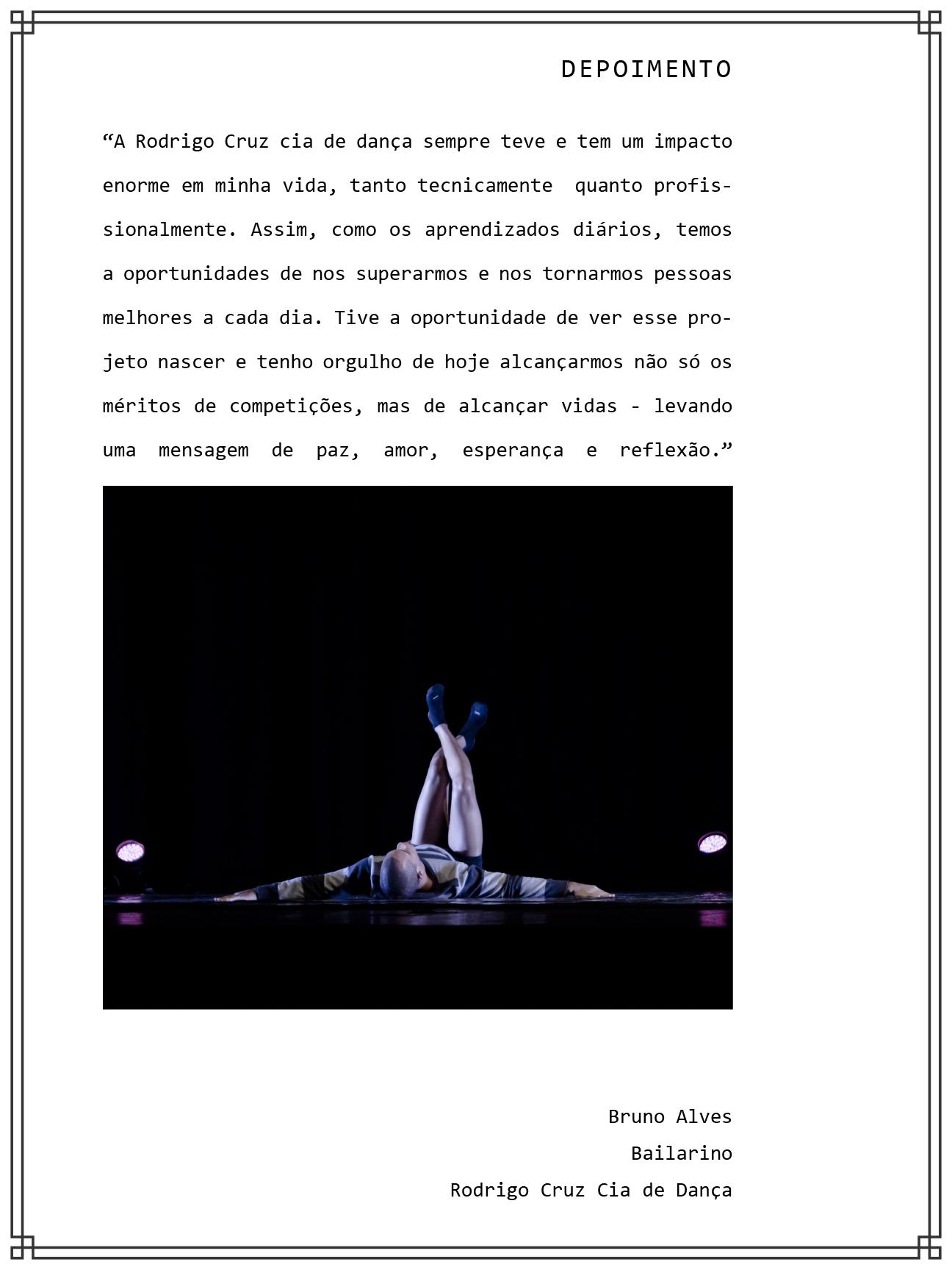 Relatório de Impacto Sociocultural - Projeto Integralidade / Rodrigo Cruz Cia de Dança